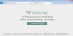 WordPress Splash Page